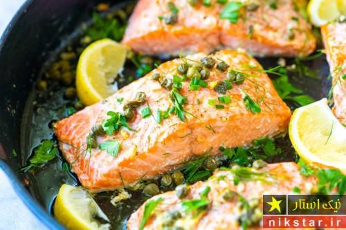 طرز مزه دار کردن ماهی سالمون