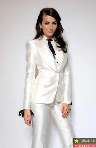 کت و شلوار سفید زنانه