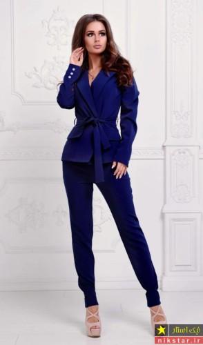 کت تک آبی زنانه