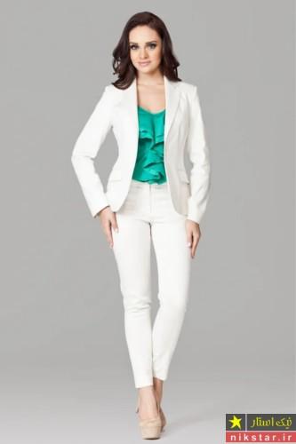 کت و شلوار سفید دخترانه