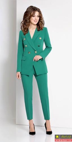 کت و شلوار سبز زنانه