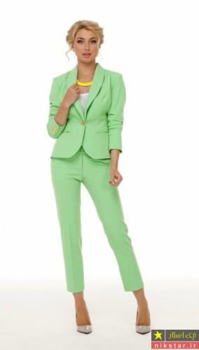 کت شلوار سبز زنانه