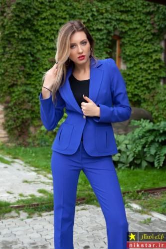 کت شلوار آبی دخترانه