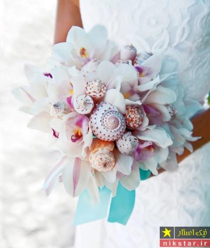 دسته گل صدفی عروس