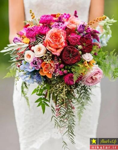 دسته گل عروس آبشاری