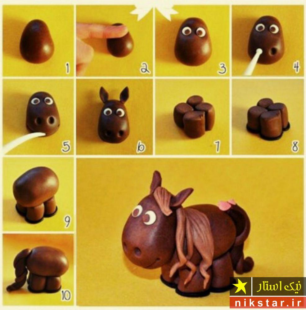 عروسک خمیری اسب