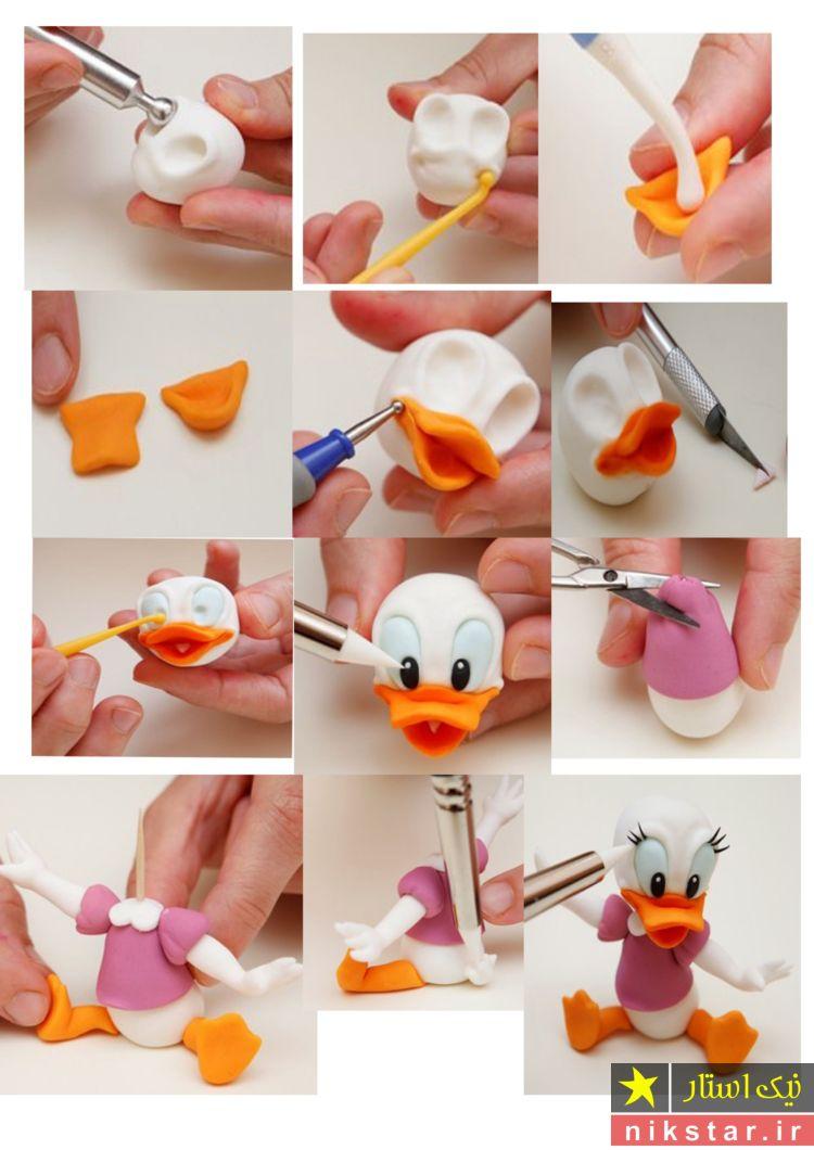 ساخت عروسک های خمیری فانتزی