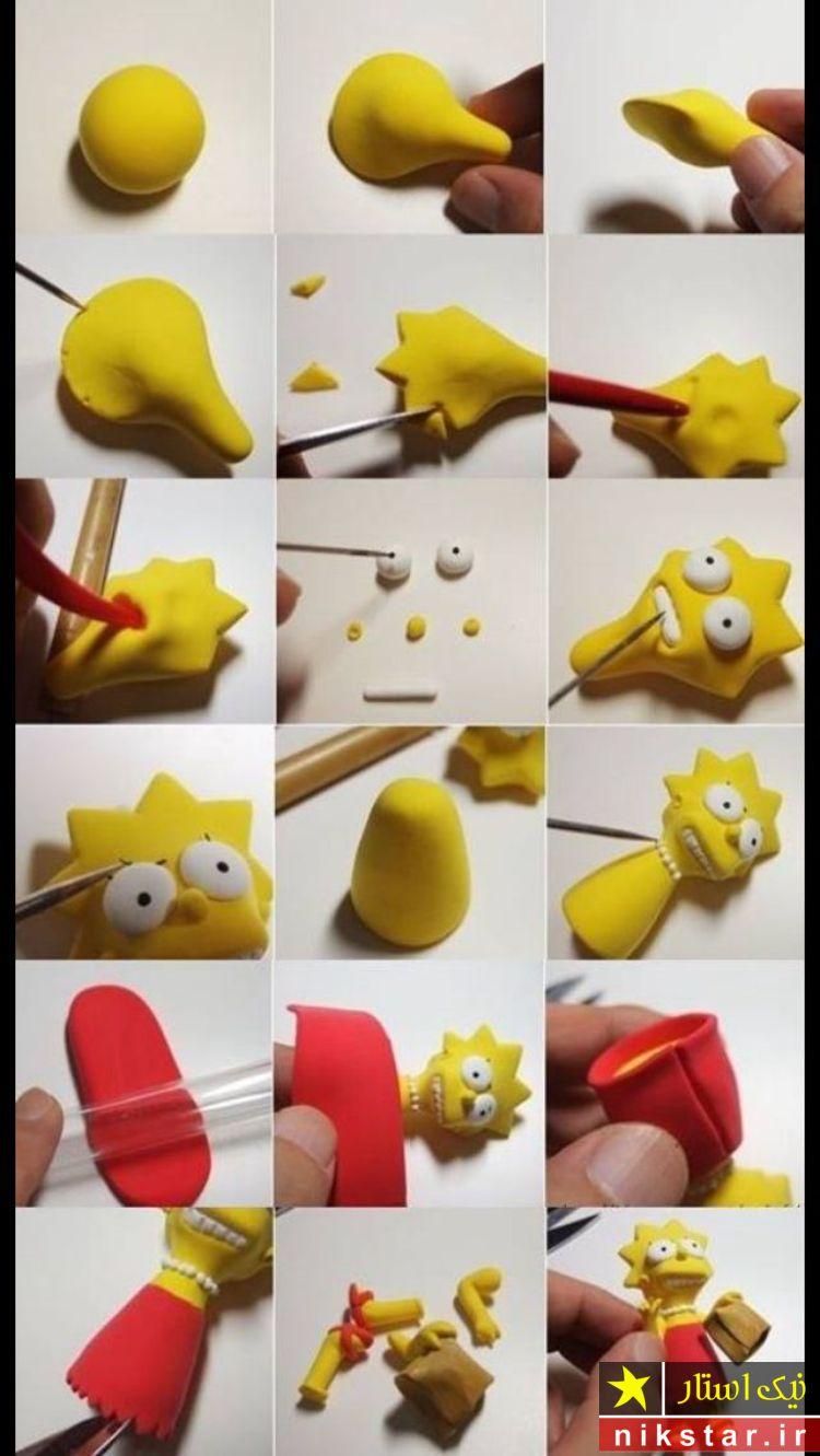 آموزش عروسک خمیری فانتزی