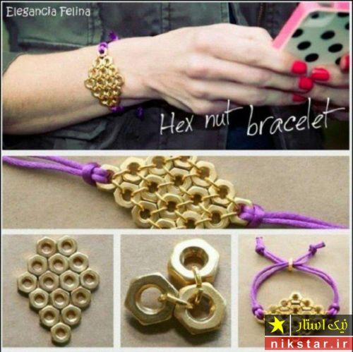 آموزش درست کردن دستبند با مهره و مکرومه