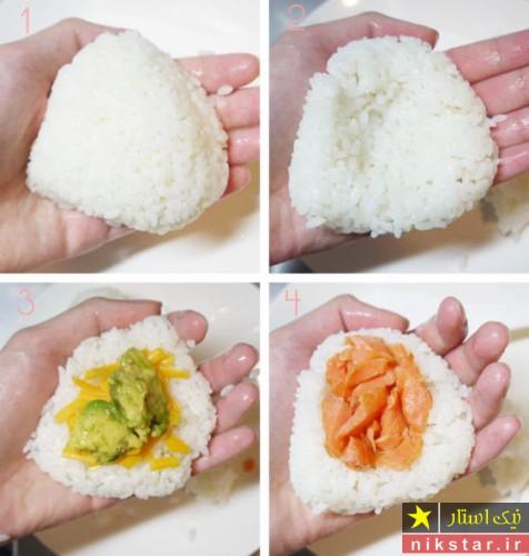 طرز تهیه کوفته برنجی ژاپنی مرحله به مرحله