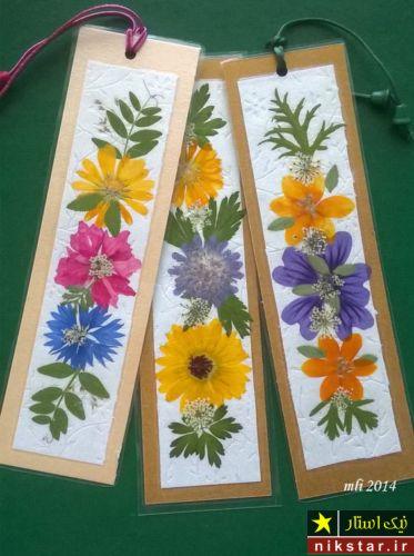 آموزش ساخت بوک مارک کتاب با گل خشک