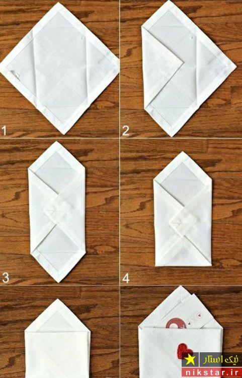 تزیین دستمال برای سفره