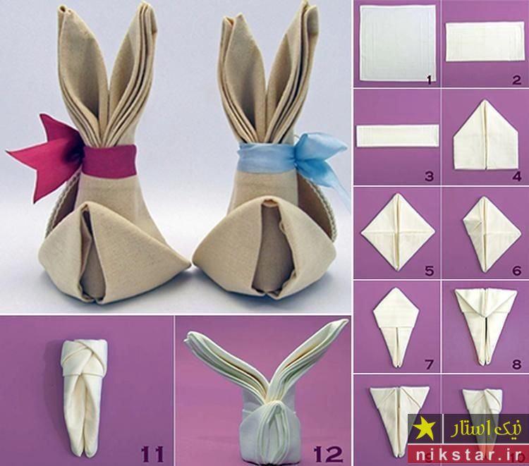 آموزش تزیین دستمال کاغذی