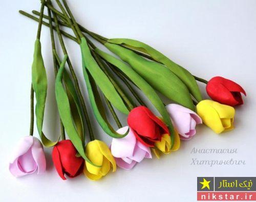 آموزش ساخت گل با فوم