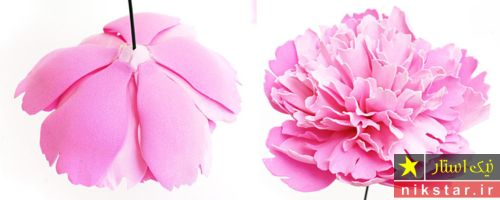 ساخت گل با الگو