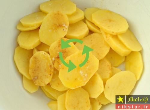 طرز تهیه گراتن سیب زمینی خوشمزه