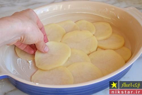 طرز پخت گراتن سیب زمینی مرحله به مرحله