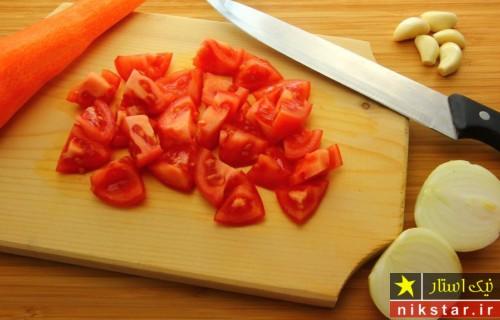 طرز تهیه سوپ گوجه فرنگی مرحله به مرحله