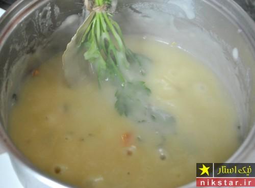 طرز تهیه سوپ کرمی مرغ خوشمزه مرحله به مرحله