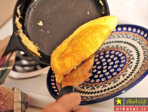 طرز تهیه نیمرو پنیری