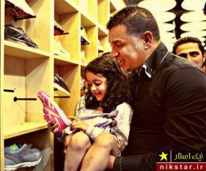 علی دایی و دخترش (2)