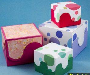 آموزش ساخت جعبه کادویی با الگو