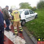 تصادف ال ۹۰ و برخورد شدید با گاردریل حاشیه خیابان