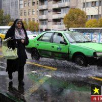 گزارش تصویری یک روز بارانی در تهران آبان ماه ۹۷