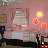 دکوراسیون اتاق خواب دخترانه با رنگ های شاد و جذاب