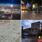 بارش باران شدید و جاری شدن سیل در شمال کشور  + عکس