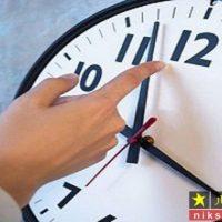 ساعت رسمی امشب ۳۰ شهریور ۹۷ بک ساعت به عقب کشیده میشود