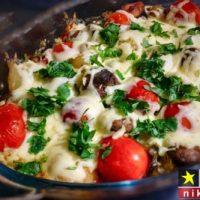 آموزش تصویری طرز تهیه خوراک قارچ با پنیر پیتزا مرحله به مرحله