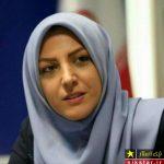 سلفی مجری زن معروف با لاریجانی در مجلس + عکس