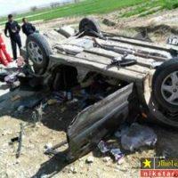 تصادف سمند و کشته شدن راننده این خودرو در لردگان + تصاویر