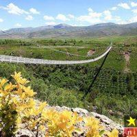 عکس جالب از اولین پل معلق تهران که به تازگی افتتاح شد