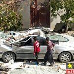چهار منزل مسکونی در اثر نشت گاز در سنندج منفجر شد + تصاویر