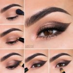 مدل آرایش چشم تصویری با سایه و خط چشم متناسب با چهره