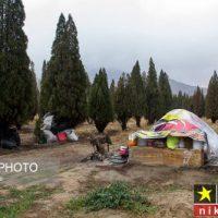 عکس های زوج فقیری که در چادر زندگی می نمایند