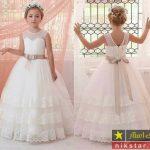 عکسهای زیباترین مدل لباس عروس بچه گانه شیک و جدید 2018 97