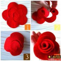 آموزش درست کردن ۱۰ مدل گل نمدی شیک و زیبا همراه با الگو مرحله به مرحله