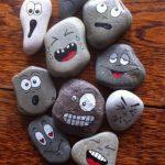 ۳۵ نقاشی روی سنگ با گواش، ماژیک و رنگ روغن جهت دکوری و کاردستی