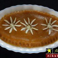 طرز تهیه حلوا مجلسی خوشمزه و خوش رنگ با آرد گندم و زعفران