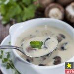 طرز تهیه سوپ شیر و قارچ و خامه خوشمزه مرحله به مرحله