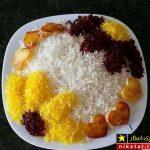 ۱۰۰ عکس از زیباتزین مدل تزیین برنج مجلسی با زعفران و زرشک ۲۰۱۹ ۹۸